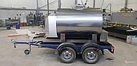 Мобильный термос-емкость для хранения и перевозки молока 1500 литров