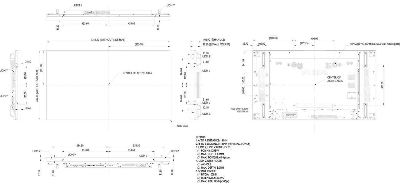LED панель Philips 55BDL1007X/00