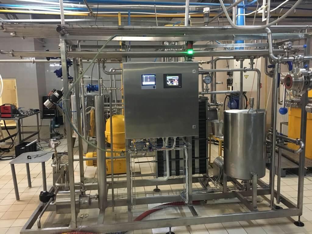 Пастеризационно-охладительная установка пластинчатая 3000 л/ч