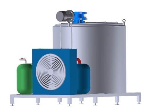 Танк-охладитель молока УОМ R-300 открытого типа