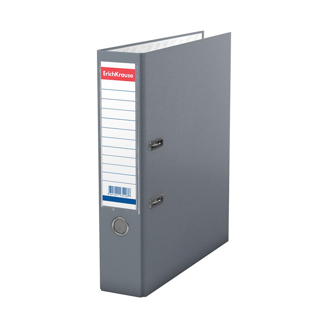 Папка–регистратор с арочным механизмом ErichKrause Basic (70 мм, А4, Серый)