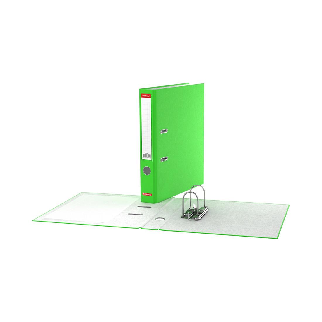 Папка–регистратор с арочным механизмом ErichKrause Neon (50 мм, А4, Зеленый)