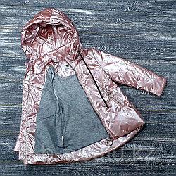 Куртка лакированная болонь, пудра