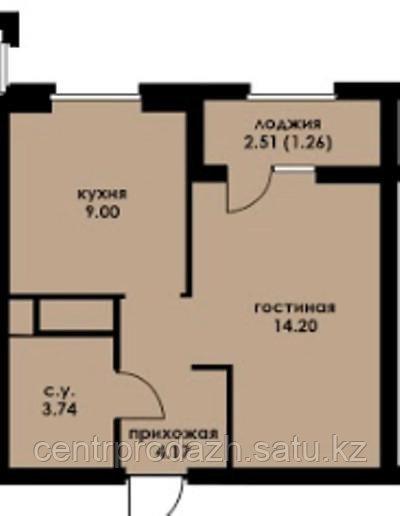 1 комнатная квартира в ЖК Inju Arena 32.86 м²