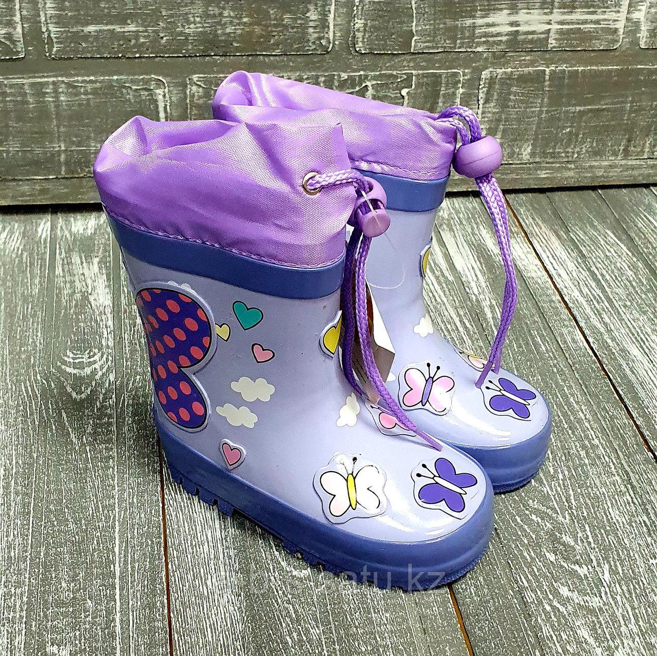 Сапоги резиновые (фиолетовые)