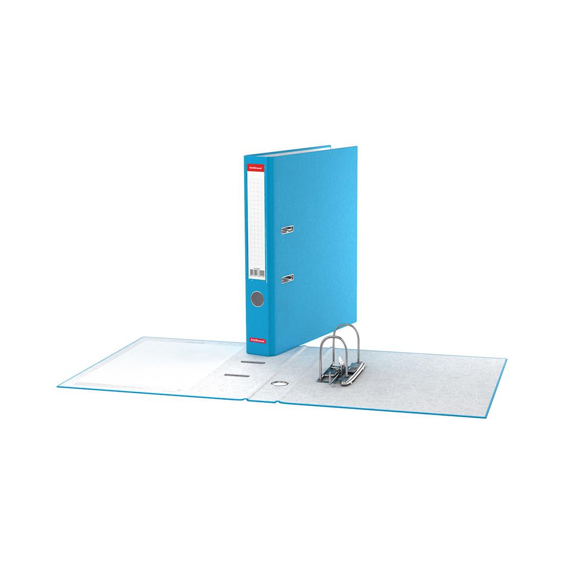 Папка–регистратор с арочным механизмом ErichKrause Neon (50 мм, А4, Голубой)