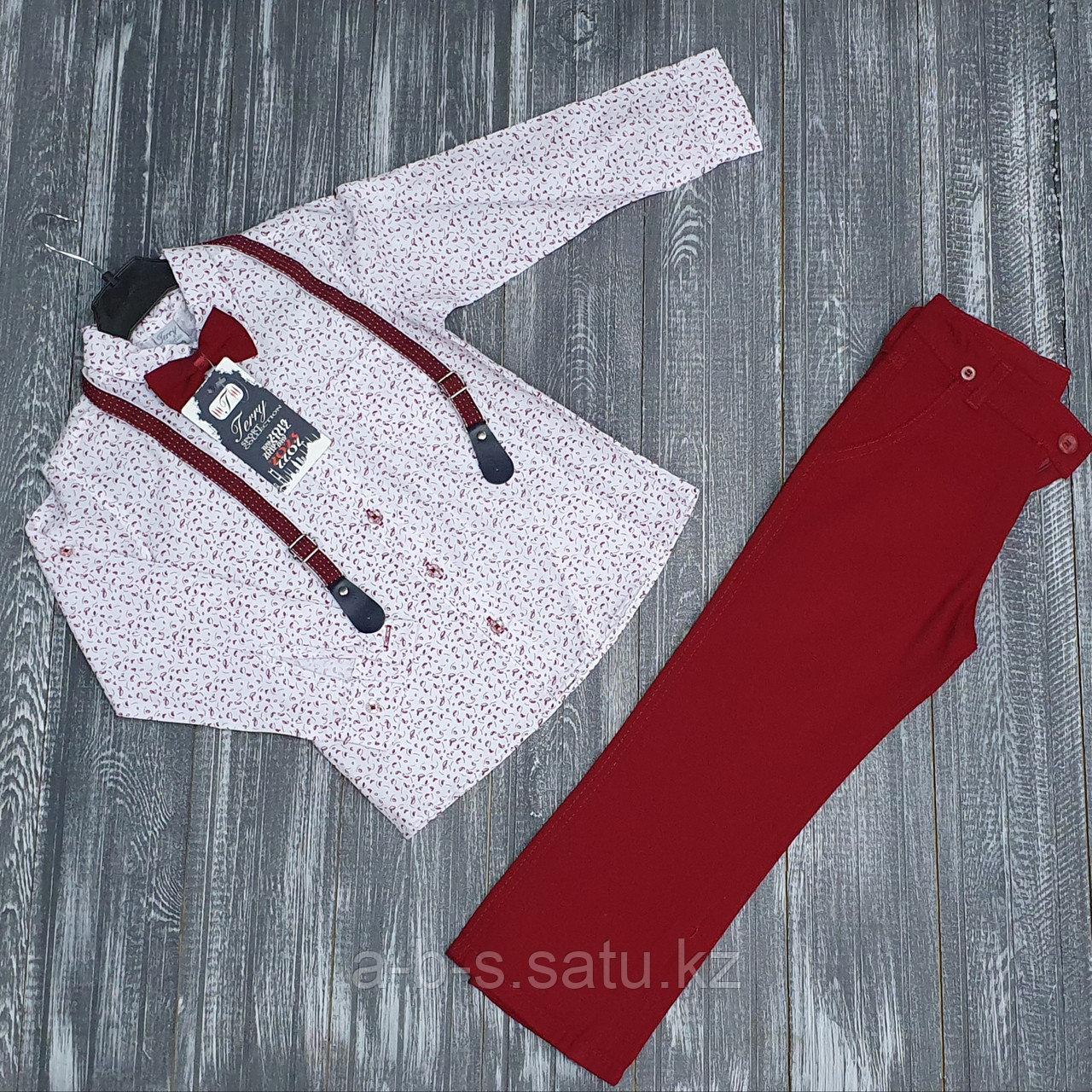 Комплект Terry  рубашка и брюки красные