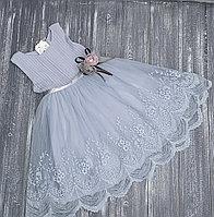 Платье серое, нарядное