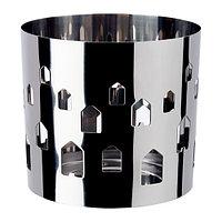 Украшение для свечи в стеклянном стакане Ваккерт, нержавеющая сталь