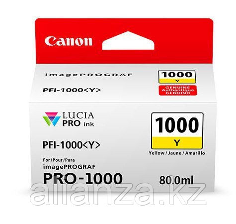 Картридж Canon PFI-1000Y Yellow 80 мл (0549C001)