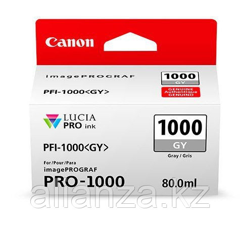 Картридж Canon PFI-1000 PGY Photo Gray 80 мл (0553C001)