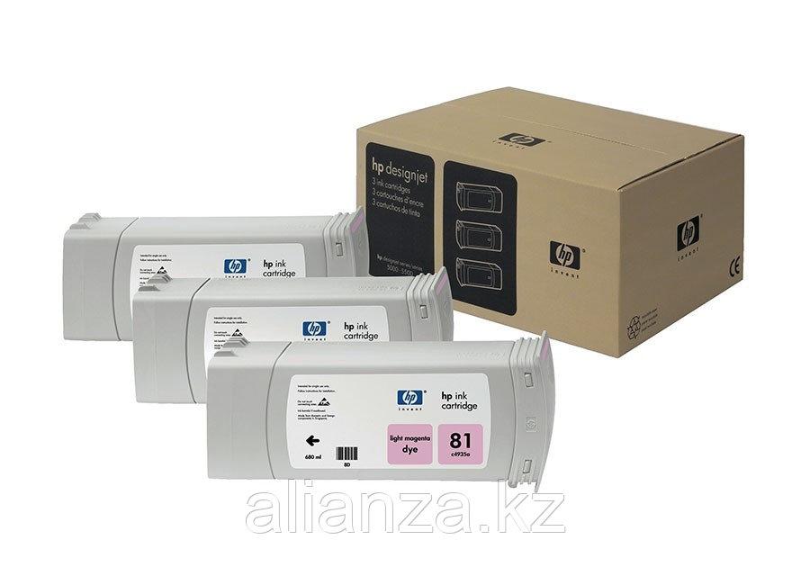 Набор картриджей HP DesignJet 81 indoor Dye Light Magenta 3x680 мл (C5071A)