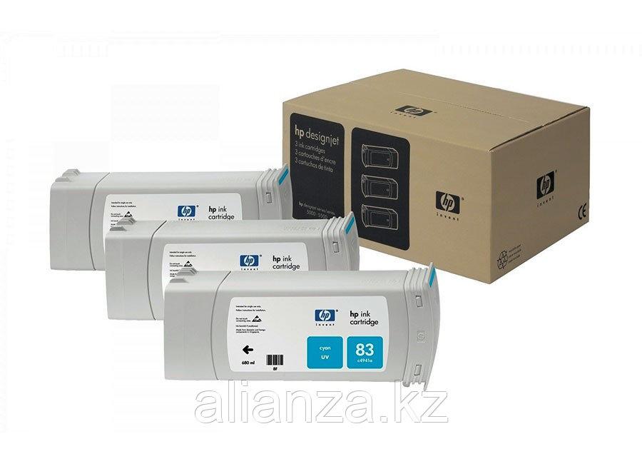 Набор картриджей HP DesignJet 83 outdoor Dye Cyan 3x680 мл (C5073A)