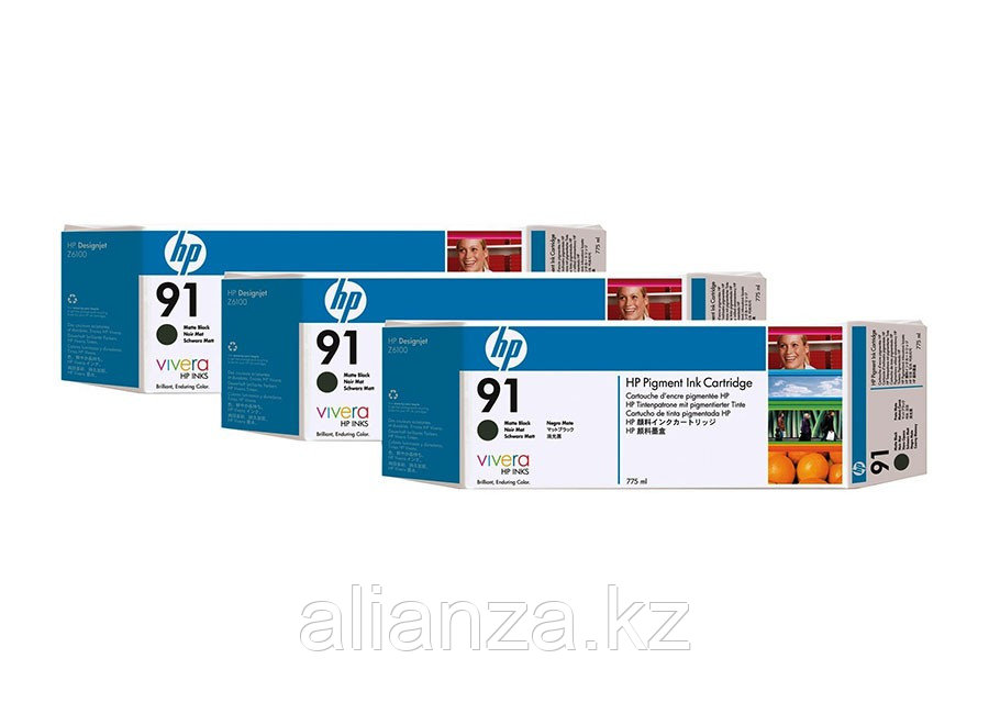 Набор картриджей HP Vivera HP 91 Matte black 3x775 мл (C9480A)