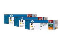 Набор картриджей HP Vivera HP 91 Yellow 3x775 мл (C9485A)