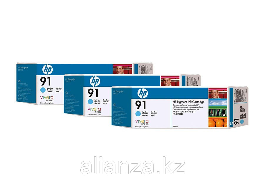 Картридж HP DesignJet 91 Light Cyan 3x775 мл (C9486A)