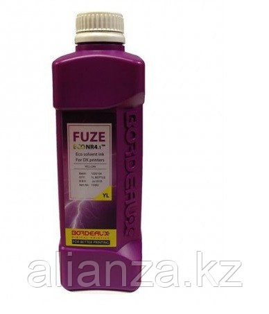 Экосольвентные чернила Bordeaux FUZE (PRIME ECO PeNr) Yellow, 1 л (бутыль)