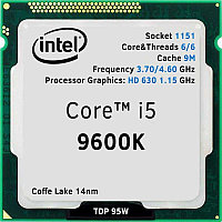 Core i5-9600K, oem/tray