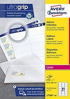 Адресные бумажные этикетки быстрого отклеивания Avery Zweckform QuickPEEL L7160-100