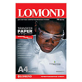 Термотрансферная бумага Lomond A4 Ink Jet Transfer Paper for Bright Cloth, 140 г/м2, 50 листов (0808415)
