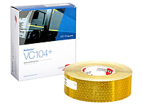 Светоотражающая лента Oralite/Reflexite VC104+ Rigid Grade для жесткого борта, желтая 0.05x50 м