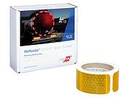 Светоотражающая лента Oralite/Reflexite VC104+ Tanker Stickers для жесткого борта, для цистерн, желтая 0.05x10