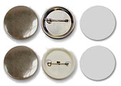 Заготовки для значков Bulros d25 мм, металл/булавка, 200 шт