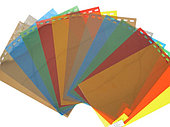 Обложки пластиковые, Прозрачные без текстуры, A3, 0.20 мм, Красный, 100 шт