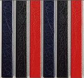 Цветные каналы с покрытием «кожа» O.CHANNEL Mundial А4 304 мм 10 мм, синие