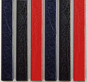 Цветные каналы с покрытием «кожа» O.CHANNEL А5 217 мм 24 мм, черные