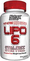 Жиросжигатель  LIPO 6 STIM-FREE , 120 LIQUID CAPS.