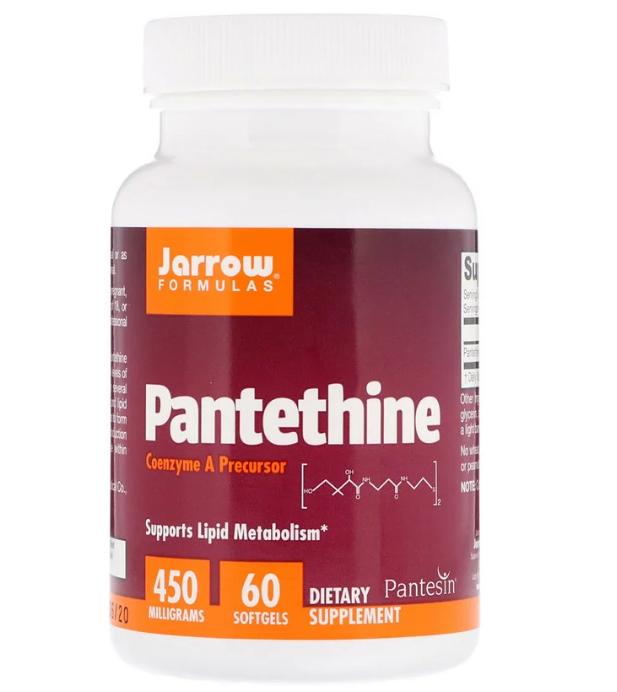 Jarrow Formulas, Пантетин, 450 мг, 60 мягких таблеток
