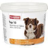 BEAPHAR Top 10 For Dogs Комплекс витаминов Топ 10, с L-карнитином для собак, 750таб.