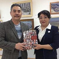 Встреча с председателем Союза художников Республики Таджикистан администрации Союза художников РК