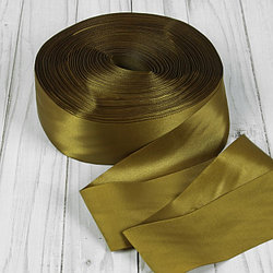Лента атласная, 50 мм × 100 ± 5 м, цвет оливковый