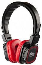 RITMIX RH-480BTH Гарнитура Bluetooth+ кабельное подключение + встроенный FM-приемник, MP3, красный