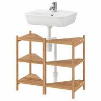 Высокие шкафы-пеналы Mebel IKEA РОГРУНД / ТИНГЕН Угловой стеллаж под раковину