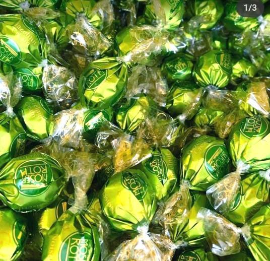 Конфеты Moser Roth (Зеленые) Ореховый крем  1кг