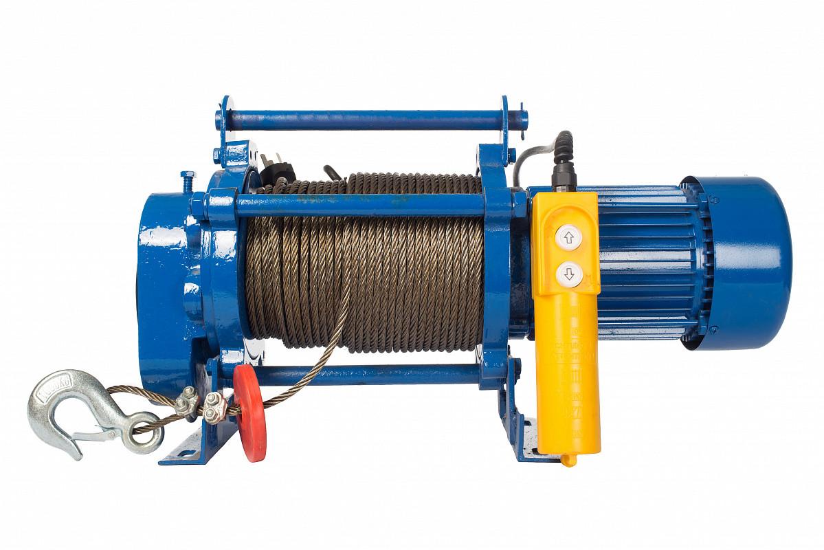 Лебедка тяговая электрическая 500кг 220В  КCD-500-A с канатом 30м