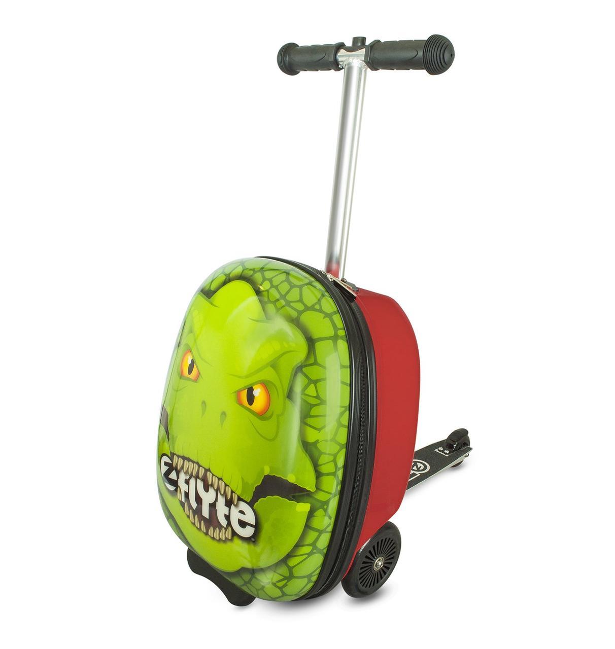 Самокат-чемодан Динозавр Zinc-Flyte