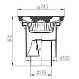 Канализационный трап МСН 245х245 (S) для отвода воды, фото 2