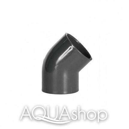 Уголок 45° диаметр 110 мм. ПВХ фитинги для бассейнов., фото 2
