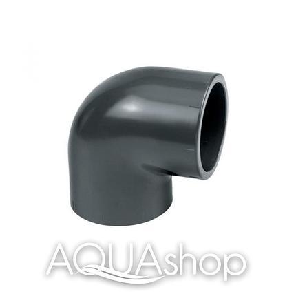 Уголок 90° диаметр 110 мм. ПВХ фитинги для бассейнов., фото 2