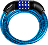"""Замок ЗУБР """"ПРОФЕССИОНАЛ"""", тросовый, кодовый, с изменяемым кодом, длина троса - 950мм, d 10мм"""