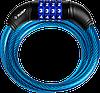 """Замок ЗУБР """"ПРОФЕССИОНАЛ"""", тросовый, кодовый, с изменяемым кодом, длина троса - 650мм, d 10мм"""