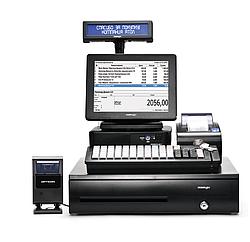 """POS-комплект 15"""" АТОЛ ViVA II [USB touch, бескулерный, черный], Ридер магнитных карт, FPrint-22ЕНВД,"""