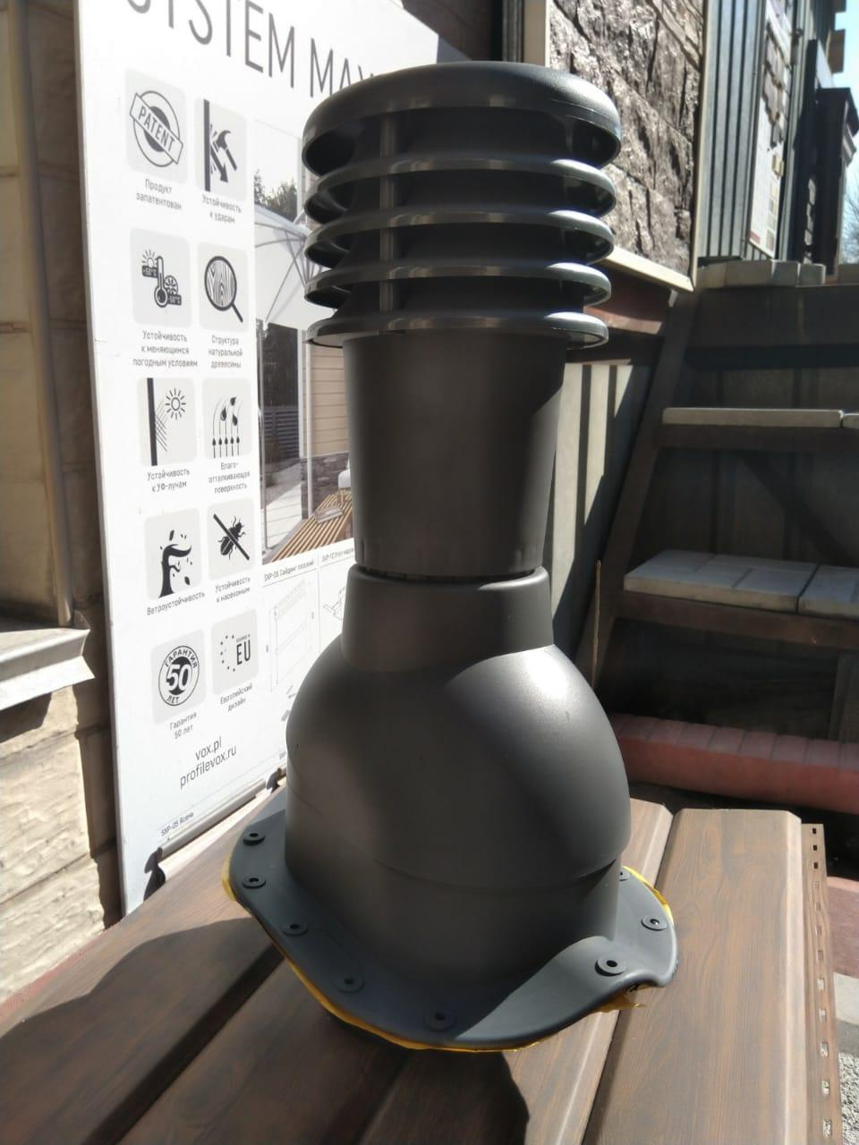 Вентиляционные выходы для профиля СуперМонтерей, Монтерей цвет Серый