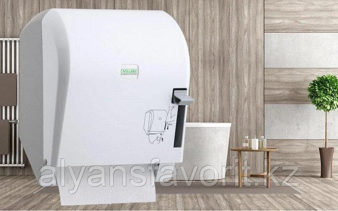 Диспенсер рулонных бумажных полотенец Vialli K8 (медицинский, локтевой), фото 2