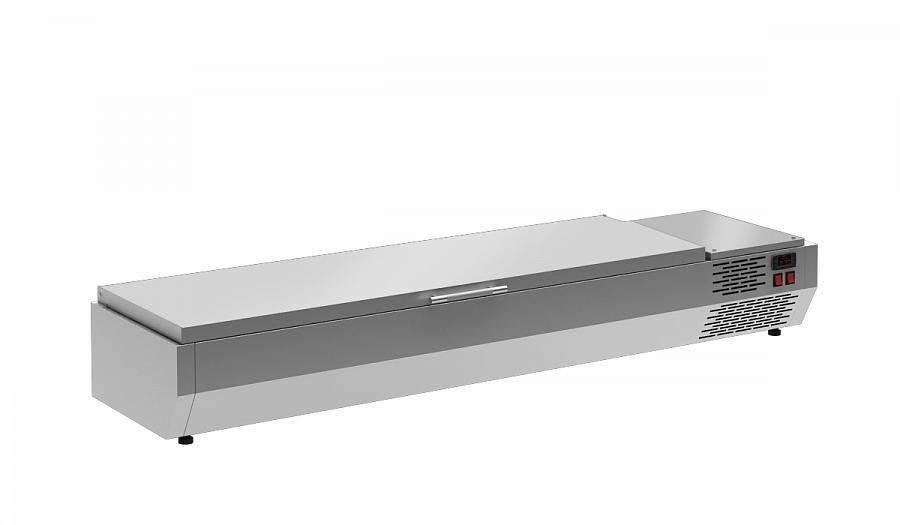 Витрина холодильная Полюс A40 SM 1,2 с крышкой 0430