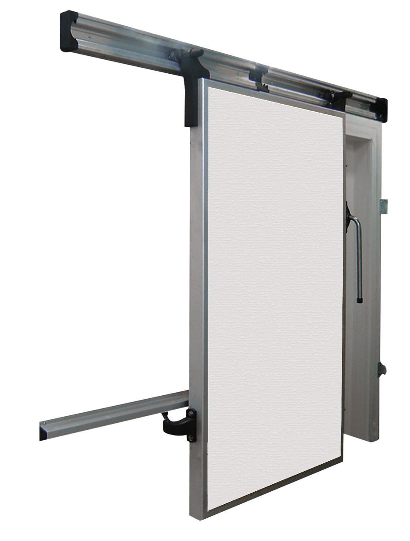 Дверной блок для холодильной камеры. Распашная дверь с проемом 1400х2400